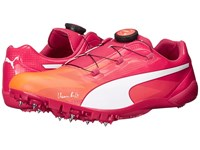 Puma Bolt Evospeed Disc Fluo Peach Rose Red Men's Shoes Orange