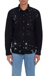 Nsf Men's Axel Paint Splatter Shirt Black