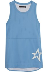 Perfect Moment Jersey Trimmed Mesh Tank Sky Blue
