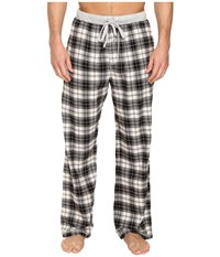 True Grit Vintage Flannel Whiskey Check Flannel Pants With Heather Knit Trim Black Men's Casual Pants