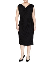 Melissa Masse Sleeveless Cowl Neck Sheath Dress Black