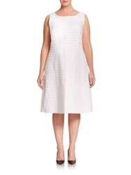 Lafayette 148 New York Plus Size Linen Fit And Flare Dress White