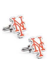 Cufflinks Inc. 'New York Mets' Cuff Links Silver