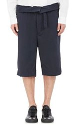 Marni Belted Wide Leg Shorts Blue