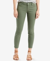 Levi's 711 Skinny Ankle Jeans Green