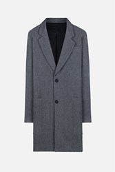 Ami Alexandre Mattiussi Notched Lapel Two Buttons Coat Grey