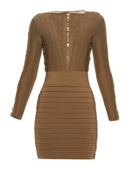 Balmain Lace Up Bandage Mini Dress