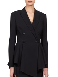 Givenchy Asymmetrical Peplum Blazer White Black