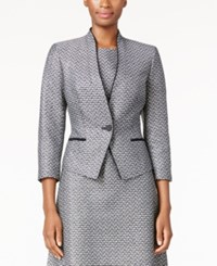 Nine West Two Tone Tweed Blazer Black Ivory