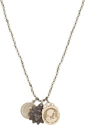 Miracle Icons Triple Pendant Necklace Grey