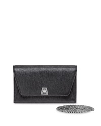Akris Anouck Pebbled Leather Envelope Clutch Bag