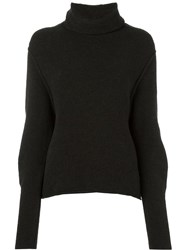Isabel Benenato Roll Neck Jumper Brown
