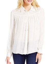 Jessica Simpson Coco Solid Long Sleeve Tunic White