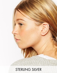 Asos Sterling Silver Bar Long Ear Cuff