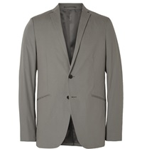 Theory Rodolf Stretch Cotton Blazer Gray