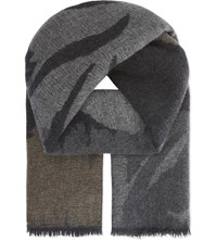 Johnstons Woodland Shadows Cashmere Scarf Charcoal
