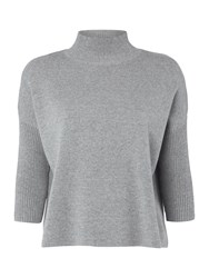 Therapy Esme Roll Neck Boxy Knit Jumper Grey