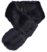 Helen Moore Loop Faux Fur Scarf Midnight