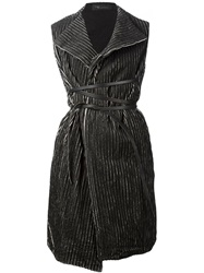 Area Di Barbara Bologna Laser Padded Belted Gilet Grey
