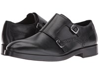 Cole Haan Harrison Grand Double Monk Black Black Men's Shoes