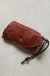 Anthropologie Pebbled Leather Pouch Cognac