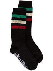 Palm Angels Striped Socks Black