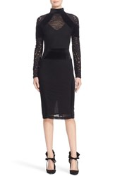 Tracy Reese Women's Triple Threat Lace And Velvet Combo Dress