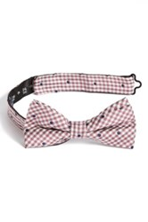 1901 Woven Silk Bow Tie Pink