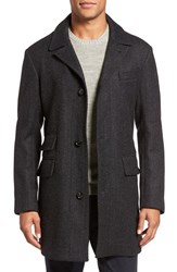 Billy Reid Men's 'Astor' Three Button Herringbone Overcoat