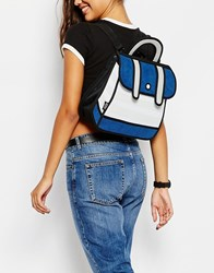 Jumpfrompaper Satchel Backpack In Navy Stripe