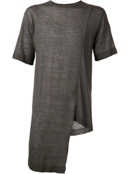 Daniel Andresen Long Asymmetrical T Shirt Grey