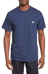 Fila Men's Usa Embroidered Box T Shirt Navy