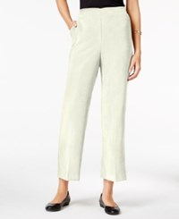 Alfred Dunner Petite Wrap It Up Cropped Corduroy Pants Ivory