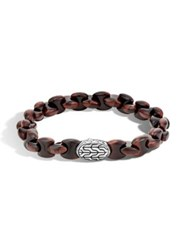 John Hardy Sterling Silver Red Tiger Eye Bracelet