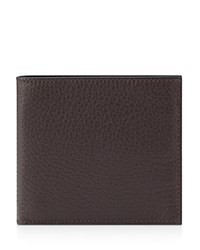 Smythson Six Card Bifold Wallet Brown