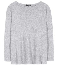 Loro Piana Huntington Knitted Cashmere And Silk Top Grey