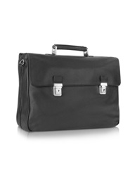 Tavecchi Polo Black Double Gusset Nappa Leather Briefcase