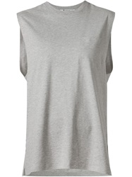 T By Alexander Wang Chest Pocket Vest Grey