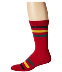 Pendleton National Park Crew Socks Rainier Stripe Crew Cut Socks Shoes Red