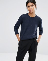 Selected Maia Fine Gage Jumper In Navy Navy Blazer