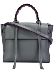 Elena Ghisellini Chain Top Handle Tote Grey