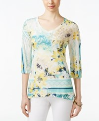 Styleandco. Style And Co. Floral Printed Top Only At Macy's Marvelous Wild