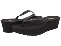 Ugg Ruby Black Leather Women's Wedge Shoes