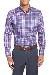 Men's Big And Tall Peter Millar 'Lenora' Regular Fit Long Sleeve Plaid Sport Shirt