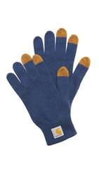 Carhartt Touch Screen Gloves Navy Hamilton Brown