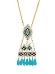 Shourouk Ramses Necklace Blue