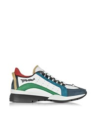 Dsquared 551 Multicolor Nubuck And Leather Men's Sneaker White