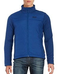 Jack Wolfskin Water Repellant Quilted Jacket Deep Sea
