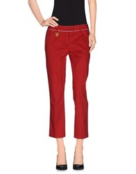 Frankie Morello Trousers 3 4 Length Trousers Women Red