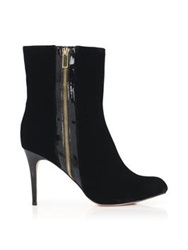 Lucy Choi London Ronnie Velvet Heeled Ankle Boot Black